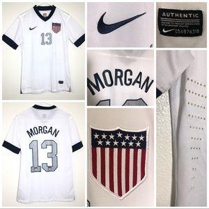 Nike us soccer Morgan 13 jersey stitched logos